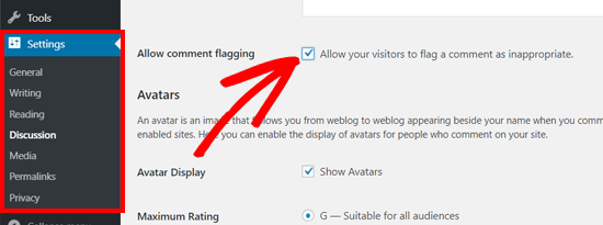 اجازه دادن به کاربران برای گزارش دادن نظرات نامناسب در وردپرس