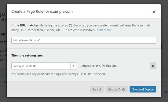 HTTPS را اجباری کنید