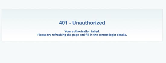 fix-401-error-wordpress
