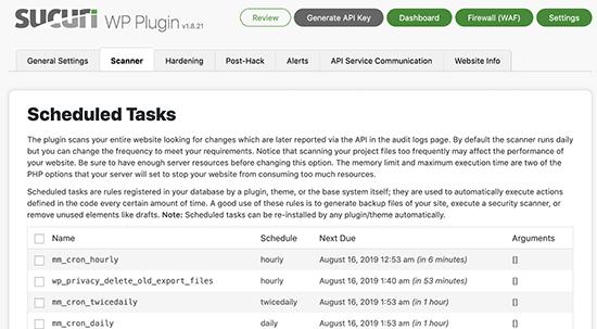 اسکنر بدافزار در افزونه Sucuri- بهترین افزونه های امنیتی وردپرس