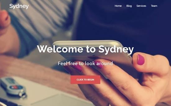 قالب رایگان وردپرس Sydney
