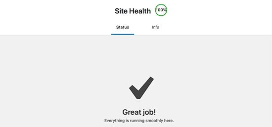 برگه سلامت سایت وردپرس