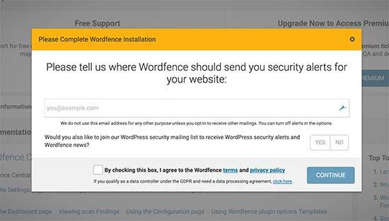 استفاده از افزونه Wordfence