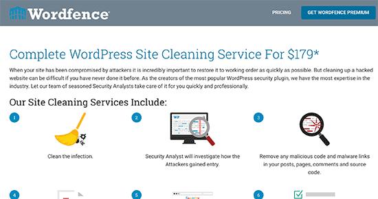 پاکسازی سایت در افزونه Wordfence - بهترین افزونه های امنیتی وردپرس