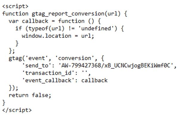 کد گوگل ادز برای کلیک روی دکمه یا لینک (CLICK EVENT) | کلمات کلیدی در گوگل ادز