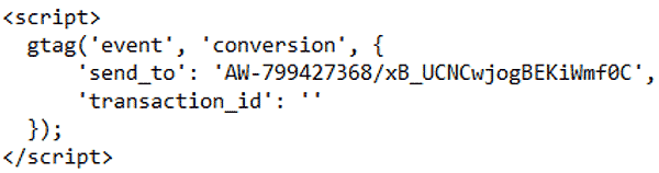 کد گوگل ادز برای بازدید از صفحه (PAGE VIEW EVENT)