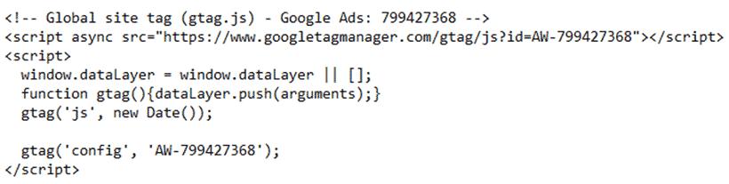 کد اصلی گوگل ادز (GLOBAL SITE TAG) | کلمات کلیدی در گوگل ادز