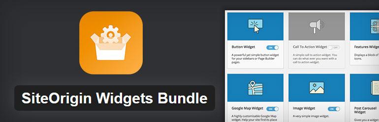 افزونه SiteOrigin Widgets Bundle