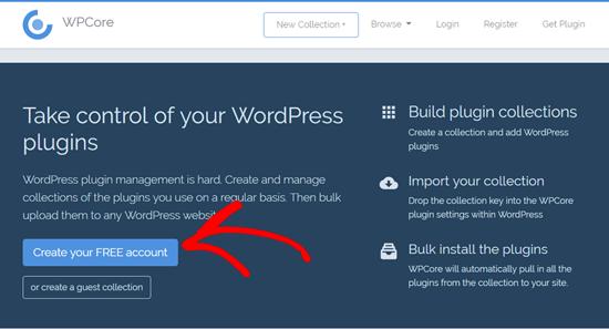 ساخت حساب کاربری در وب سایت WPCore