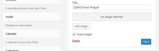 افزونه Q2W3 Fixed Widget for WordPress
