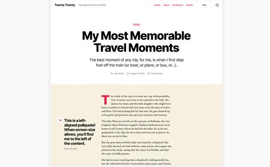 طرح پست وبلاگ در قالب بیست و بیست
