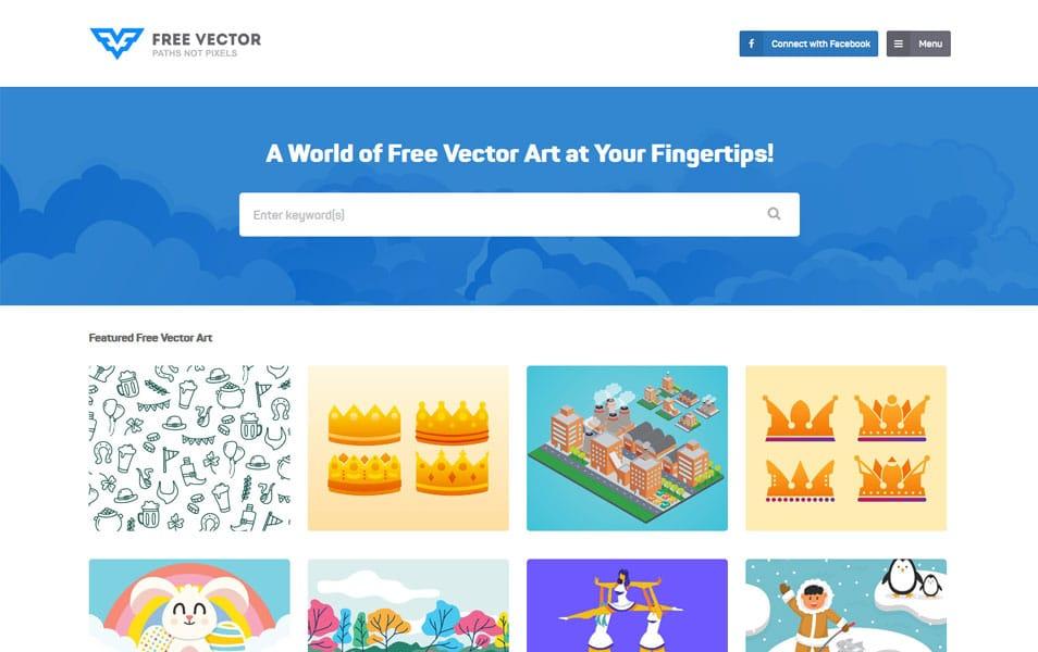 سایت FreeVector یک منبع فوق العاده برای پیداکردن انواع تصاویر گرافیکی