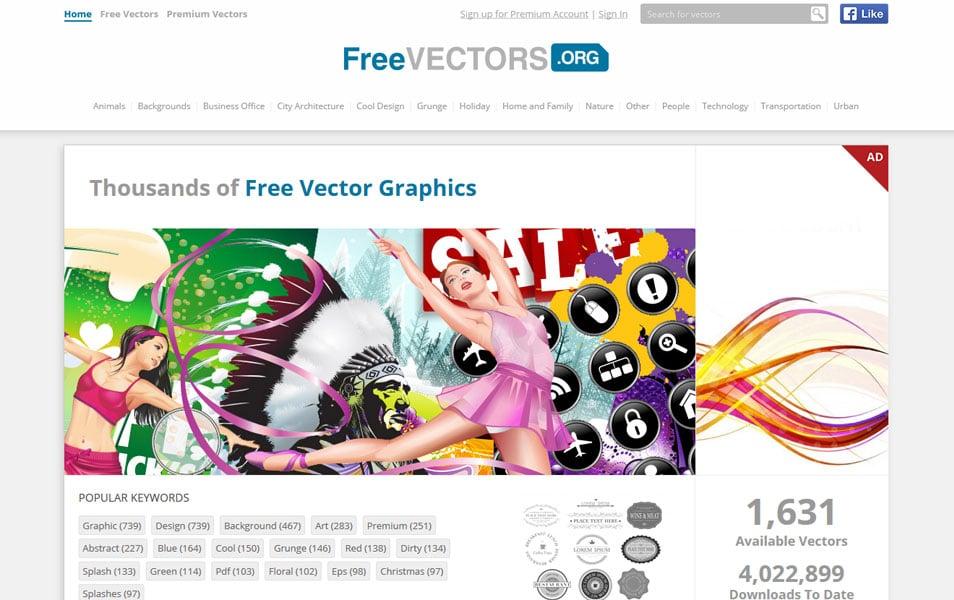 یکی دیگر از سایت هایی که می توانید وکتورهای زیبایی دانلود کنید سایت freevectors می باشد