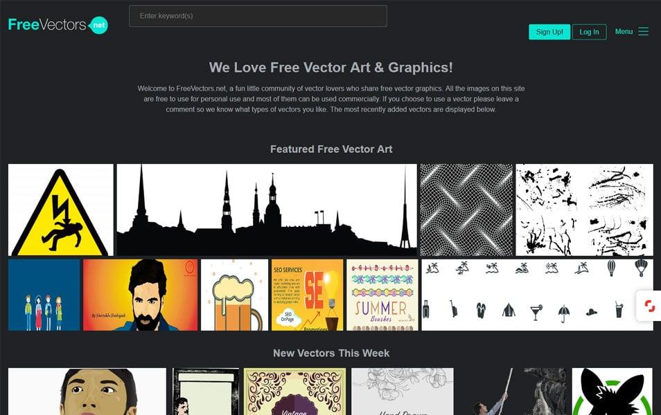 سایت FreeVectors یک سایت خوب برای دانلود وکتورهای گوناگون