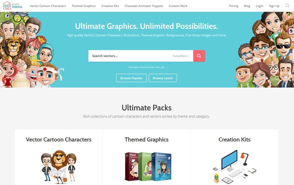 سایت GraphicMama یک منبع عالی برای دانلود انواع وکتور