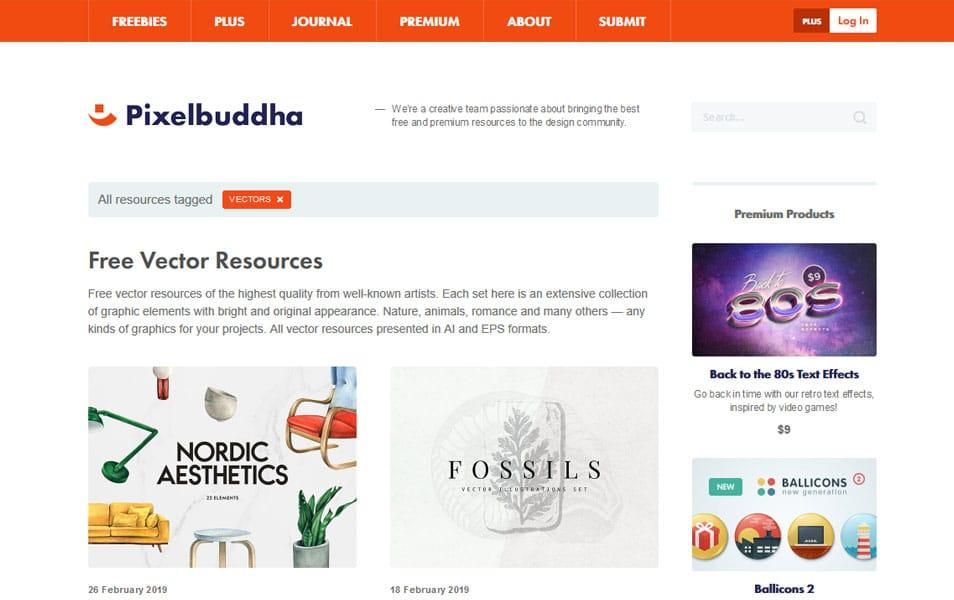 سایت Pixelbuddha یک منبع عالی برای دانلود رایگان وکتور