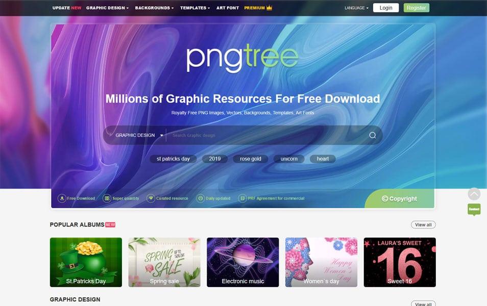 وبسایت Pngtree یک منبع خوب برای پیدا کردن انواع وکتور و تصاویر برداری
