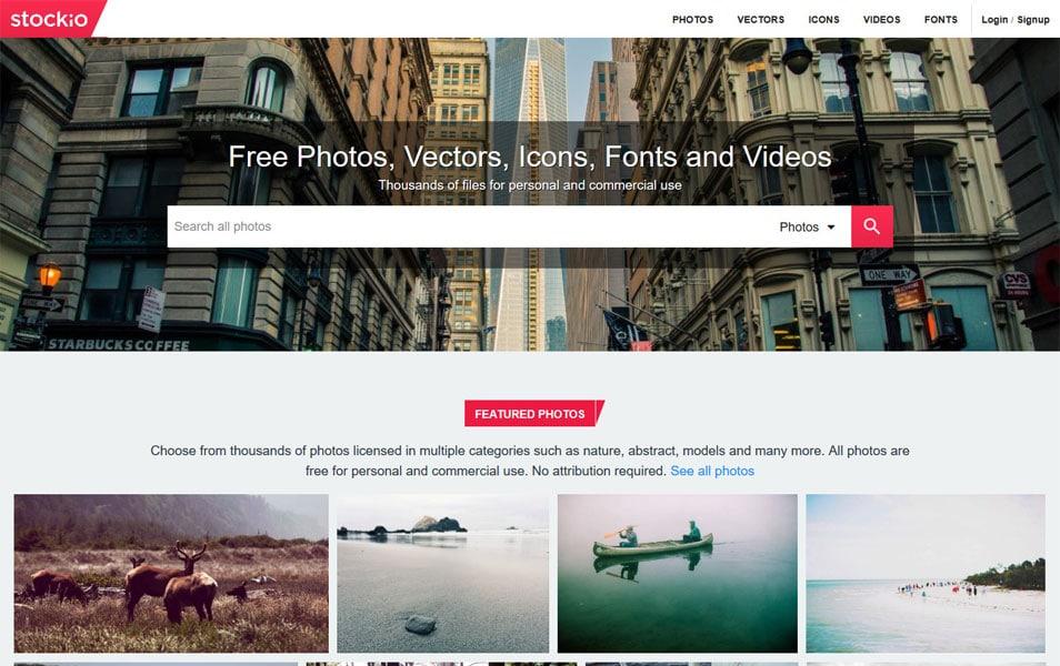 سایت Stockio هم از منابع خوب برای دانلود وکتورهای گرافیکی رایگان است