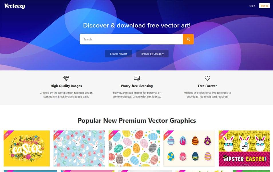 سایت Vecteezy هم یکی دیگر از منابع عالی برای دانلود انواع تصاویر با کیفیت بالاست
