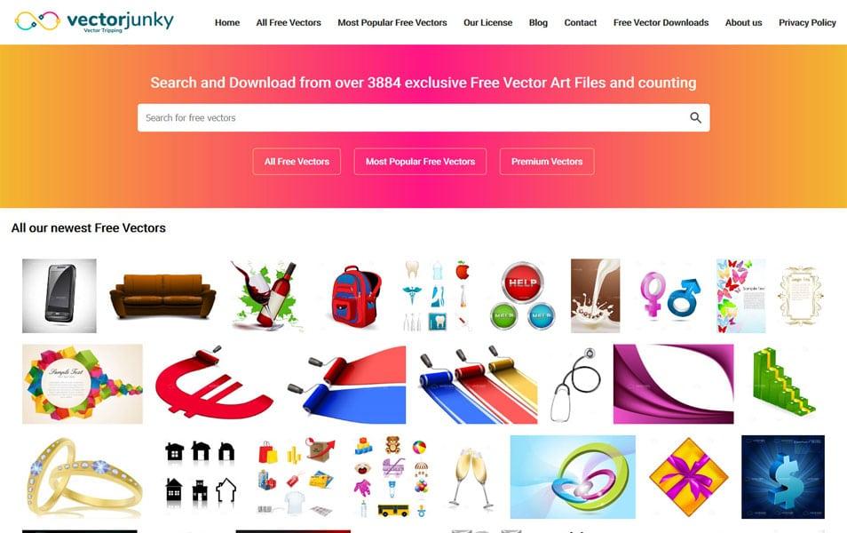 سایت Vector Junky یک منبع خوب برای یافتن وکتورهای مختلف برای طراحان