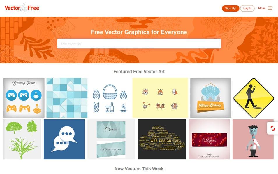 سایت Vector4free یک منبع عالی دیگر برای دانلود رایگان وکتورهای گرافیکی با کیفیت بالا