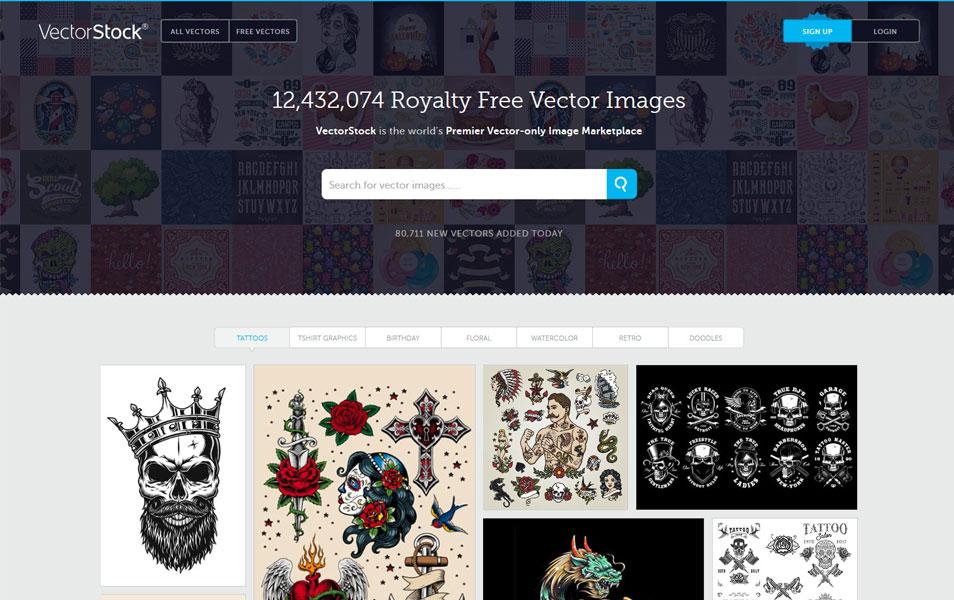 سایت vectorstock یکی از بهترین منابع دانلود رایگان تصاویر مختلف برای طراحان سایت است