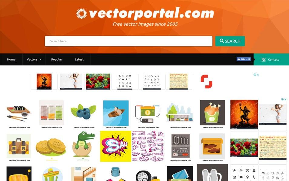 یکی دیگر از منابع دریافت وکتورهای مختلف سایت Vectorportal