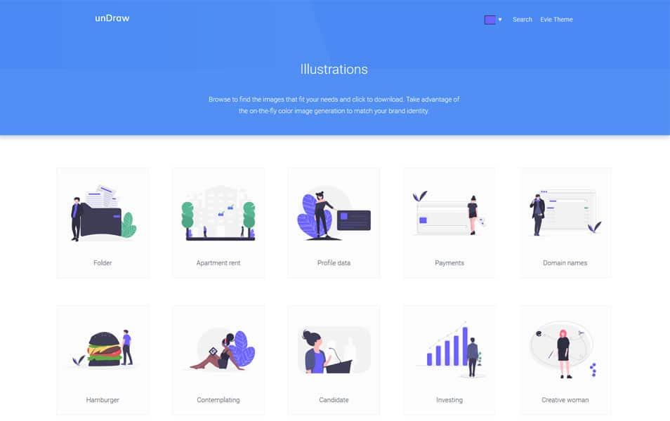 سایت unDraw یک منبع فوق العاده برای دانلود رایگان تصاویر زیبای SVG