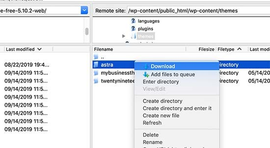 connect to host- بروزرسانی قالب وردپرس بدون از دست رفتن تنظیمات سفارشی