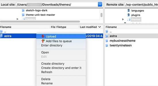 آپلود نسخه جدید قالب وردپرس به همراه تغییرات مربوطه