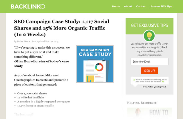 """مقاله قدیمی سایت بک لینکو با عنوان """"SEO Campaign"""" old post"""""""