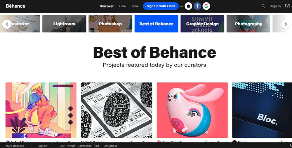 سایت behance یک منبع فوق العاده برای دانلود رایگان تصاویر زیبای SVG
