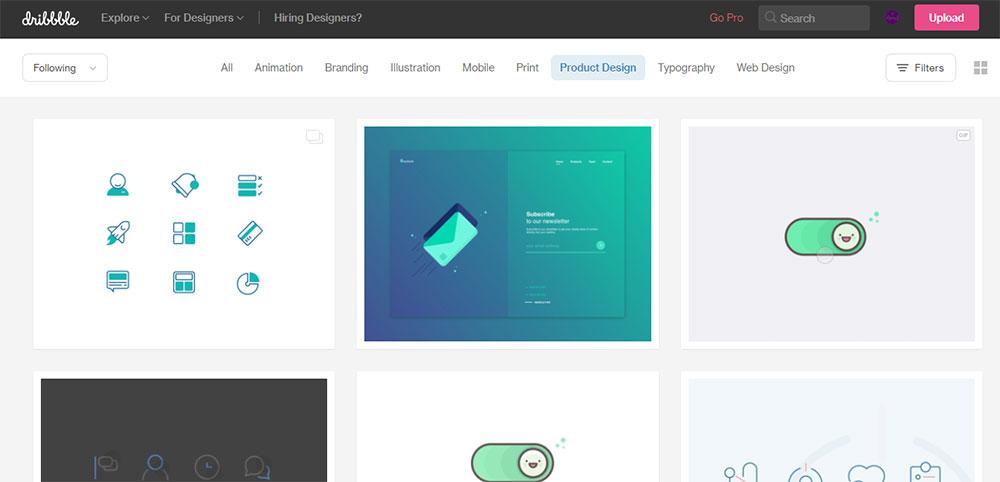 سایت dribbble یک منبع فوق العاده برای دانلود رایگان تصاویر زیبای SVG