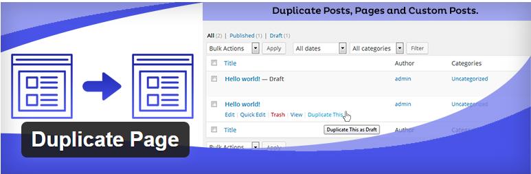 افزونه Duplicate Page برای کپی صفحات در وردپرس