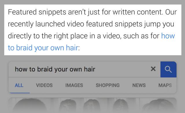 مقاله گوگل در رابطه با ریچ اسنیپت بخش های ویژه ویدیو