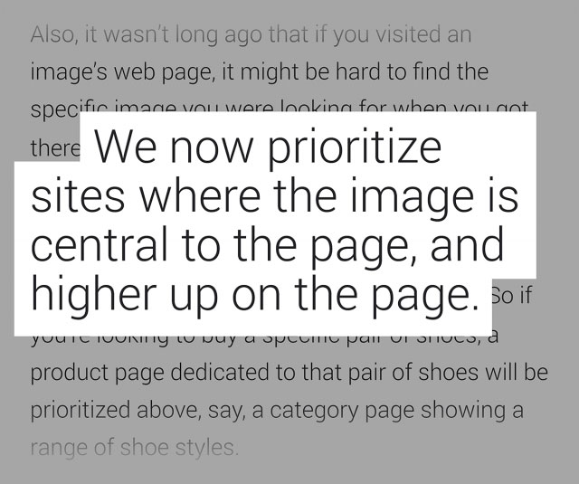 مقاله گوگل در رابطه با تصاویر بالای سایت در جستجوی تصویری