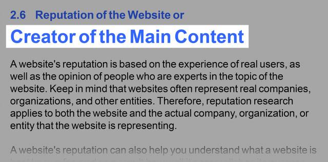 دستورالعمل های Google - خالق محتوای اصلی