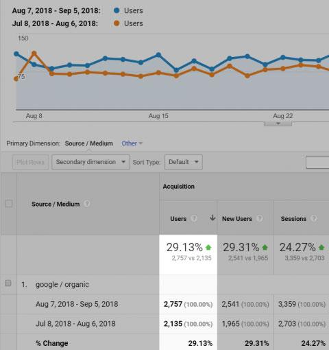 افزایش ترافیک بعد از حذف صفحات زامبی از سایت
