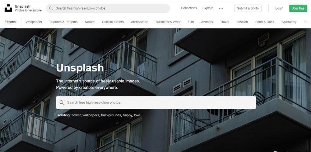 سایت unsplash یک منبع فوق العاده برای دانلود رایگان تصاویر زیبای SVG