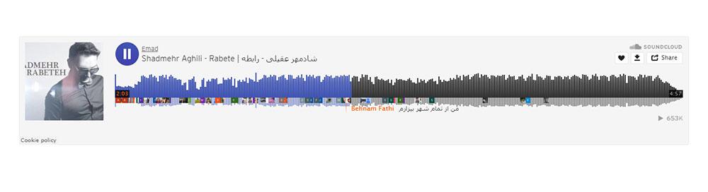 قرار دادن موزیک و پادکست با استفاده از المان soundcloud
