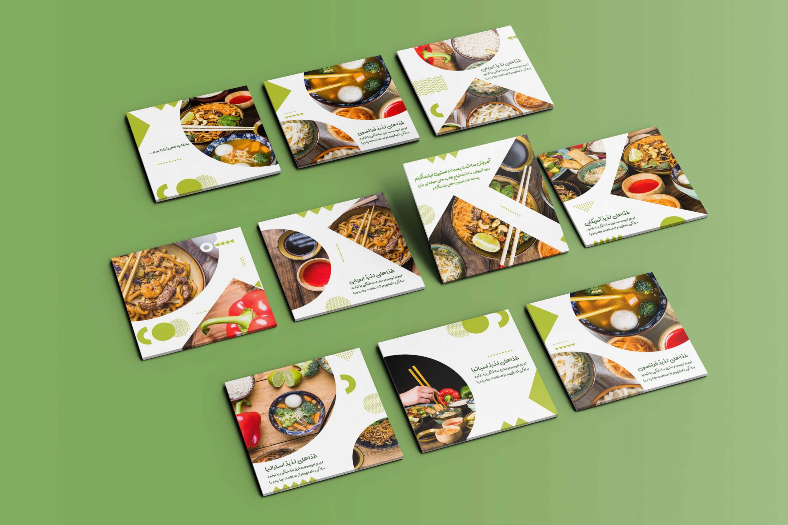 قالب ها و پست های طراحی شده در دوره آموزش طراحی پست و استوری اینستاگرام با فتوشاپ