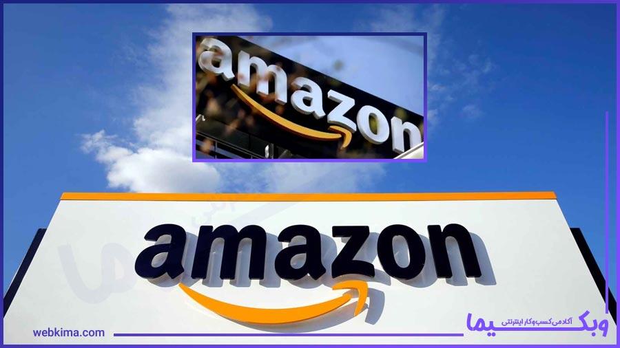تصویری از لوگوی شرکت آمازون
