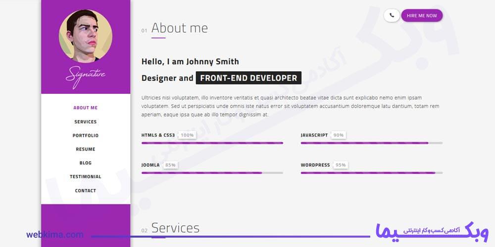 Osahan – Free CV, Resume/Vcard HTML5