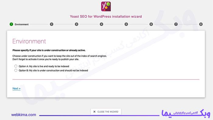 تصویری از تنظیمات پیکربندی افزونه Yoast SEO