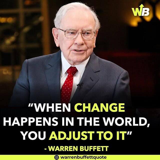 یک نمونه پست رهبری فکر در پیج اینستاگرام Warren Buffett