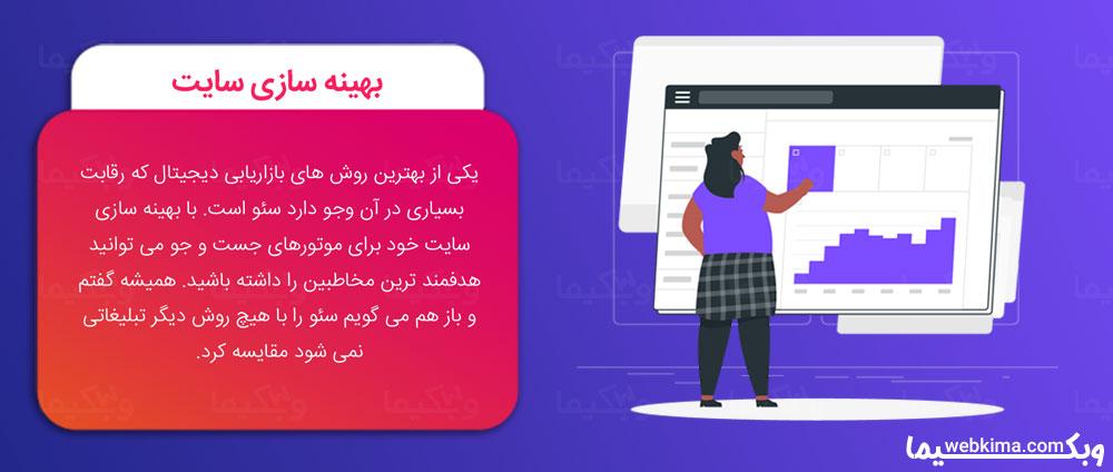 دیجیتال مارکتینگ چیست؟ - بهینه سازی سایت برای گوگل یا SEO