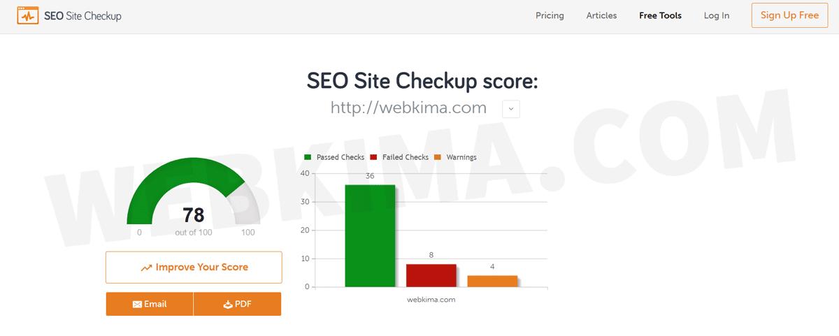 ابزار SEO SiteCheckup