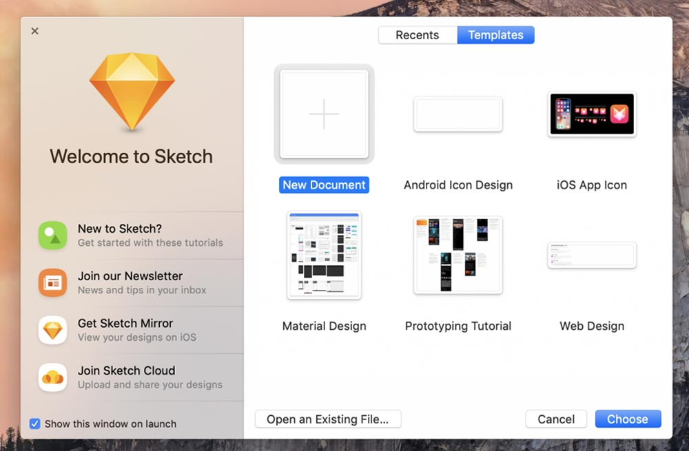 بخشهای مختلف نرمافزار Sketch -  اسکچ (Sketch) چیست؟