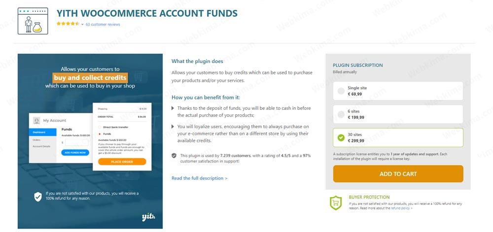 افزونه کیف پول YITH WooCommerce Accounts Funds