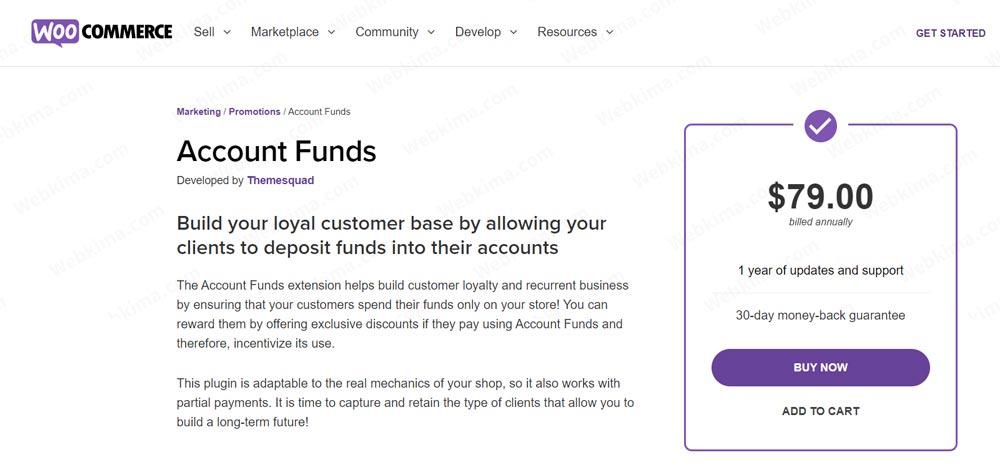افزونه کیف پول WooCommerce Accounts Funds